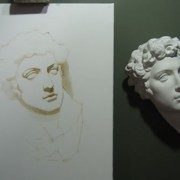Juliano Cast Painting: Dry Brush Drawing