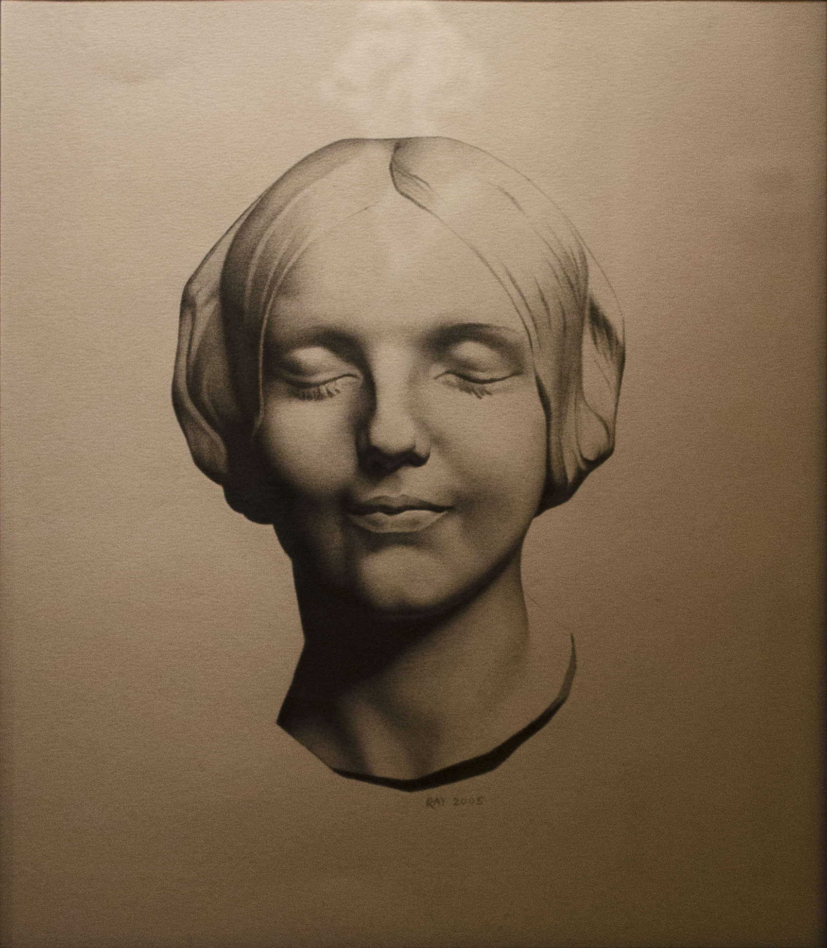 "Alan Douglas Ray, ""Jeune Femme"", graphite on stonehenge paper, 14""x12"", private collection"