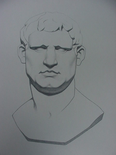 "Alan Douglas Ray, ""Agrippa"", graphite on Stonehenge paper, 12""x10"", Private Collection"