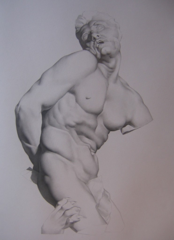 "Alan Douglas Ray, ""Milo, graphite on Stonehenge paper, 21""x17"", Private Collection"