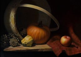 "Alan Douglas Ray, ""Bad Apple"", Oil on Panel, 18""x24"", Private Collection"