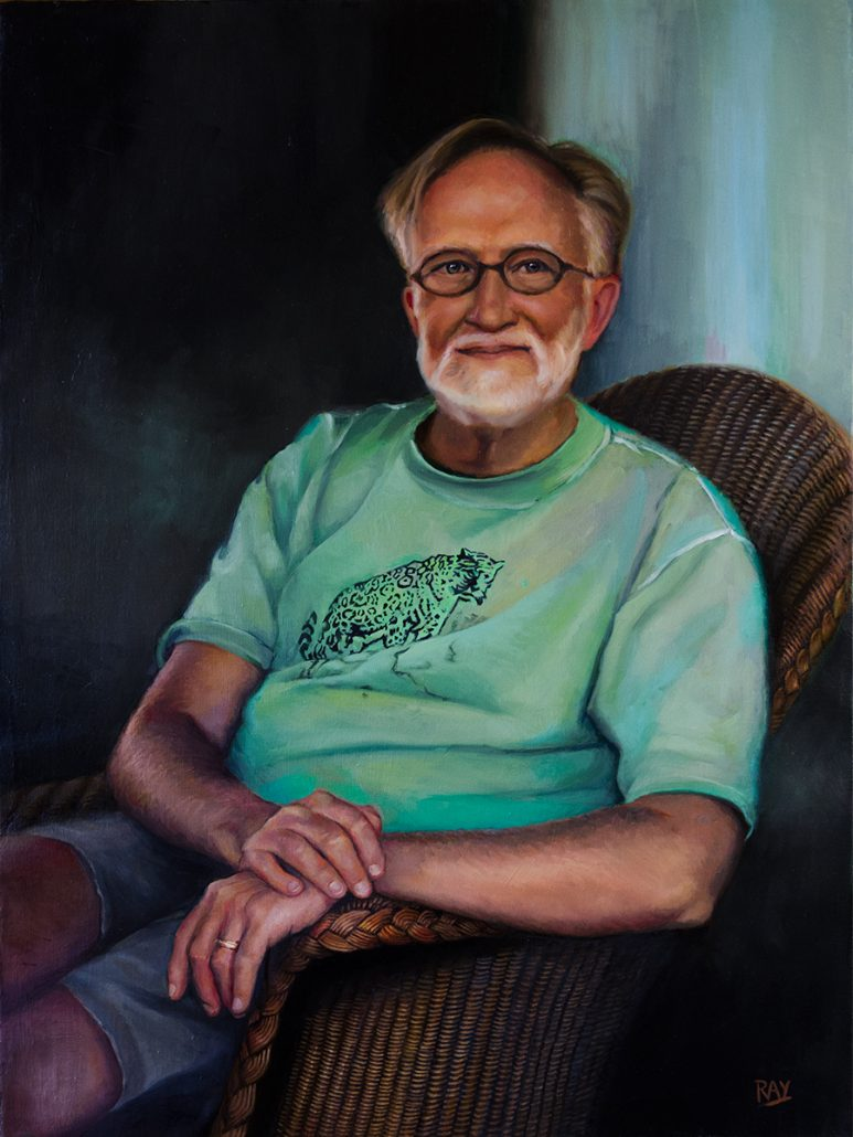 "Alan Douglas Ray, ""John Montague"", 32""x 24"", oil on linen, Private Collection"