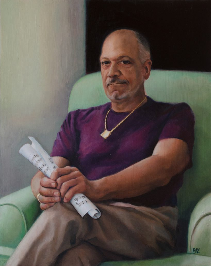 "Alan Douglas Ray, ""Gordon Ross"", 20""x16"", oil on panel, Private Collection"
