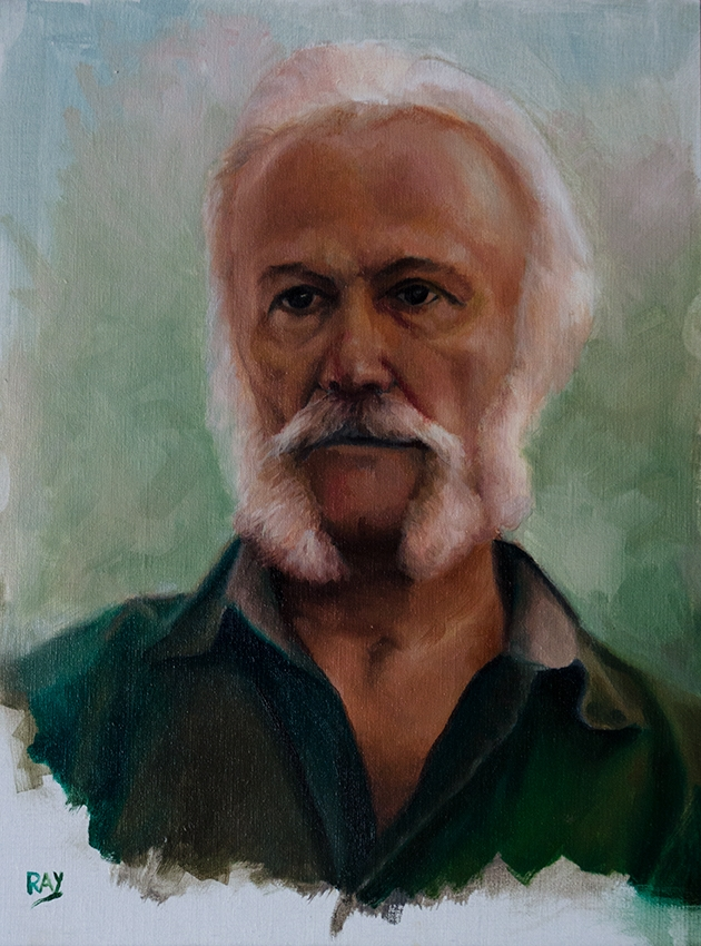 "Alan Douglas Ray, ""Peter Hodgins"", oil on panel, 16"" x 12"", $1225"