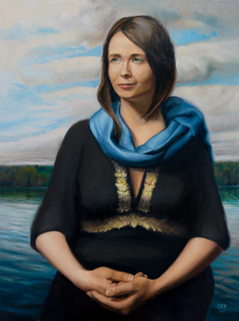 "Alan Douglas Ray, ""Lady of the Lake"", 24"" x 18"", oil on panel, $2560"