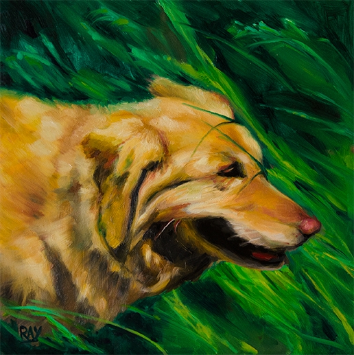 "Alan Douglas Ray"", ""Harry"", 12"" x 12"", oil on panel, $660"