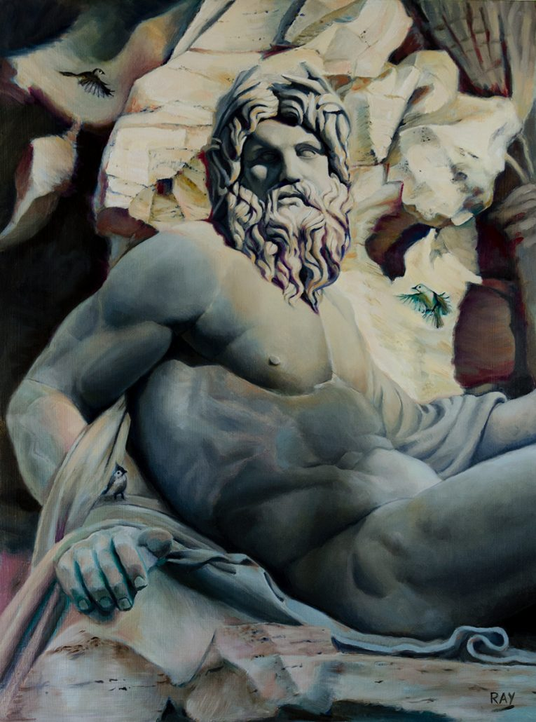 "Alan Douglas Ray, ""River God"", 24"" x 18"", oil on panel, $4000"