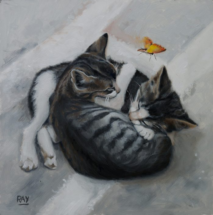 "Alan Douglas Ray"", ""Siesta"", 12"" x 12"", oil on panel, $660.00"