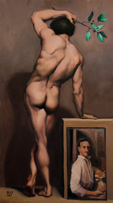 "Alan Douglas Ray, ""Standing Figure, after Mengs"", oil on panel, 21"" x 12"", $1590."