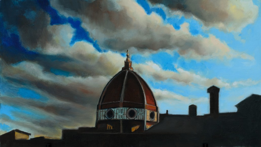 """Alan Douglas Ray, """"The Sky Above"""", 8""""x14"""", oil on panel, private collection"""