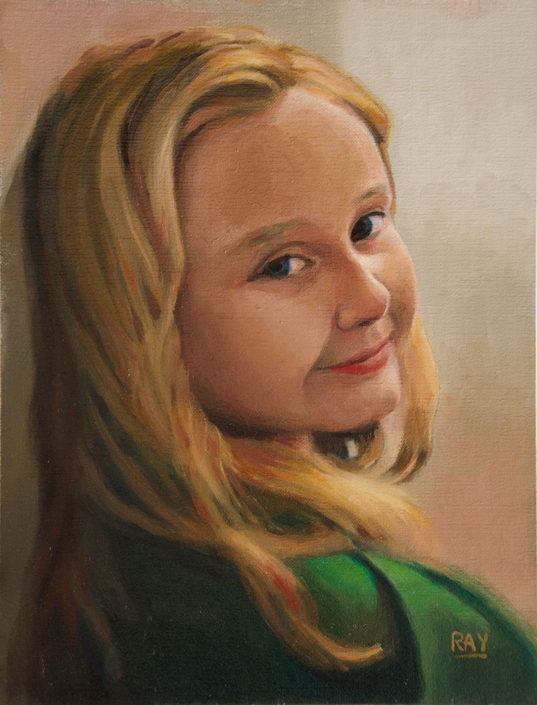 "Alan Douglas Ray, ""Tinsley"", 12"" x 9"", oil on panel, private collection."