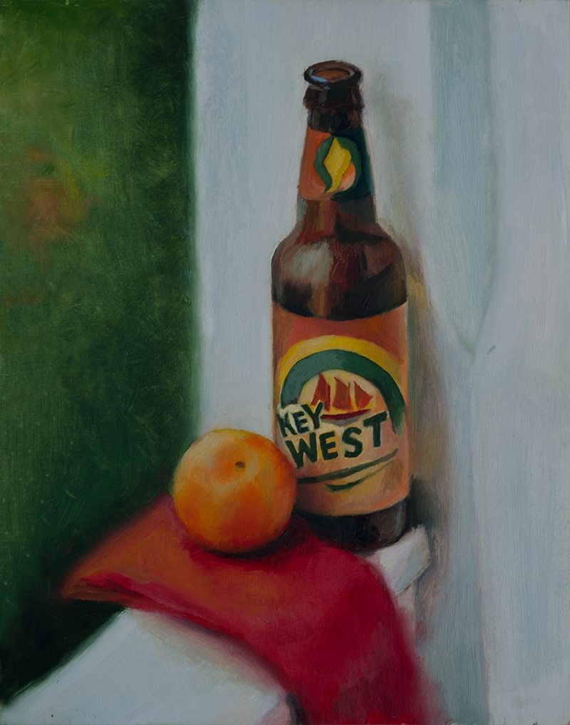 "Alan Douglas Ray, ""Key West Sun Ale"", 10""x8"" oil on panel, $600"