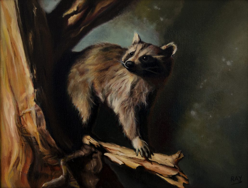 "Alan Douglas Ray, ""On the Prowl"", 14"" x 18"", Oil on Linen, Private Collection"