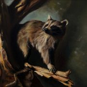 """Alan Douglas Ray, """"On the Prowl"""", 14"""" x 18"""", Oil on Linen, Private Collection"""