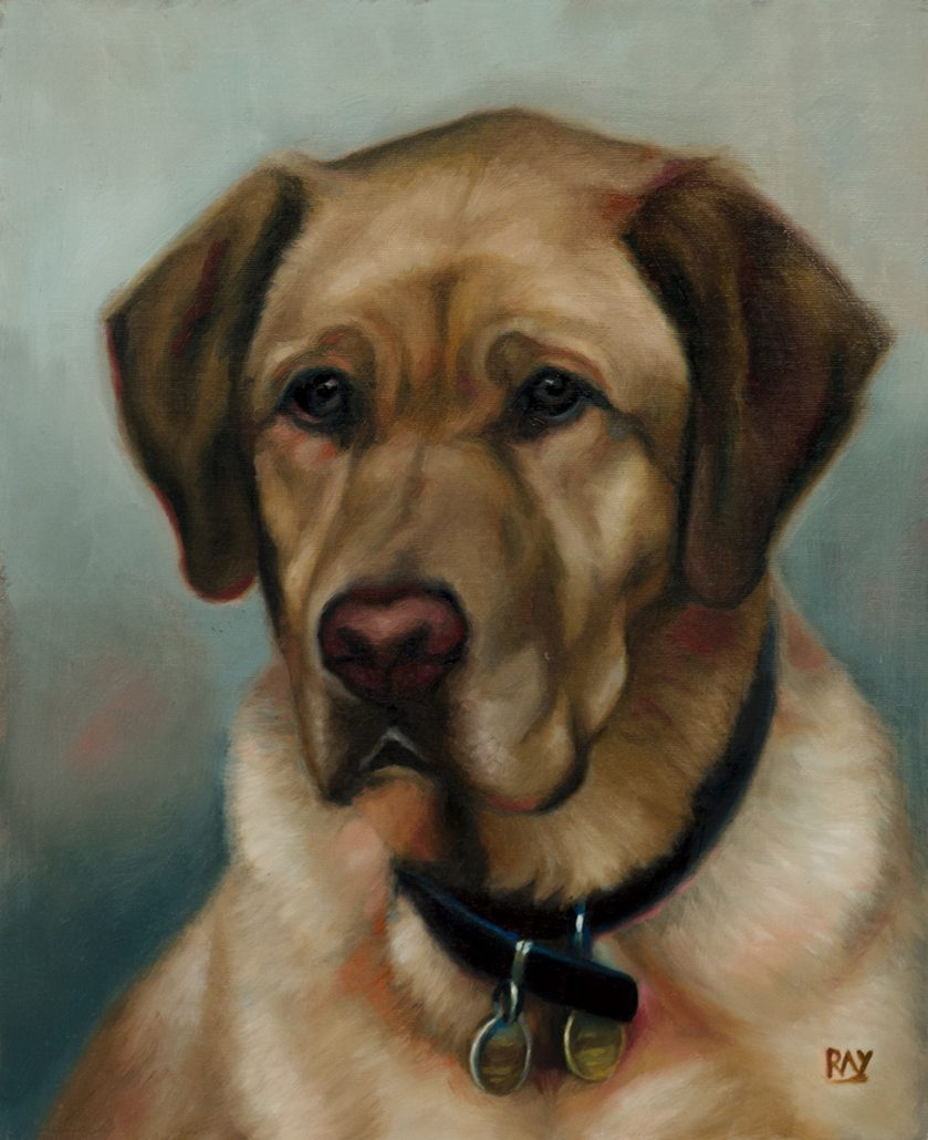 "Alan Douglas Ray"", ""Harry"", 12"" x 10"", oil on panel, Private Collection"
