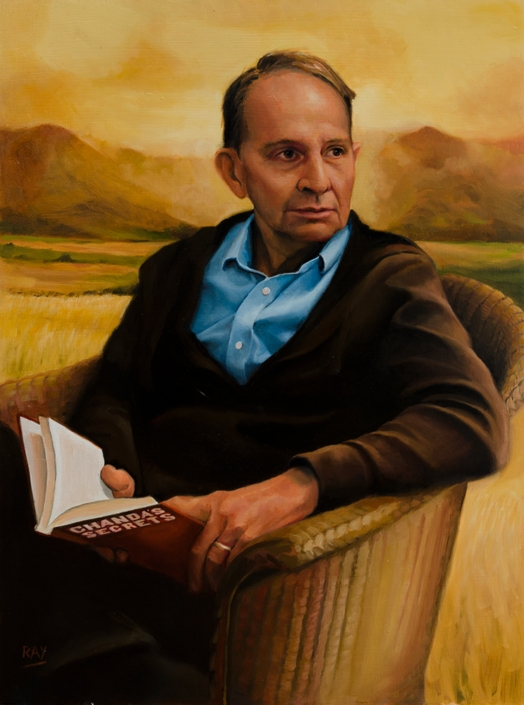 "Alan Douglas Ray, ""Allan Stratton"", 24"" x 18"", oil on panel, private collection"
