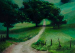 "Alan Douglas Ray, ""Country Road"", 12"" x 12"", oil on panel"