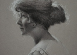 "Alan Douglas Ray, ""Pearl"", 12"" x 9"", graphite and chalk on Stonehenge paper"